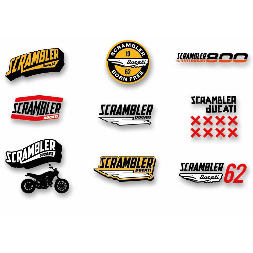 Ducati Scrambler Lifestyle Logo Sticker Set